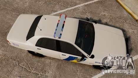 GTA V Vapid State Police Cruiser [ELS] для GTA 4 вид справа