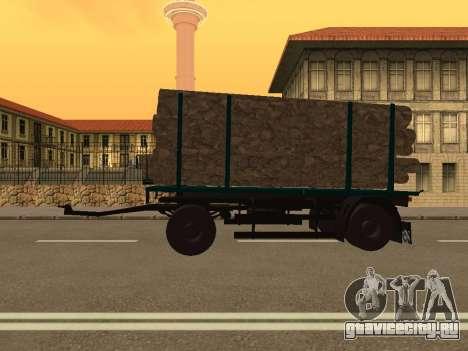 Прицеп для МАЗ 6430 для GTA San Andreas вид слева