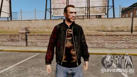Чёрная куртка из рециклированной кожи для GTA 4