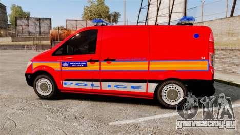 Mercedes-Benz Vito Metropolitan Police [ELS] для GTA 4 вид слева