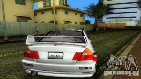Mitsubishi Lancer Rally для GTA Vice City вид справа