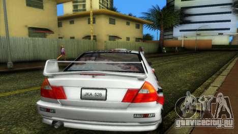 Mitsubishi Lancer Rally для GTA Vice City вид справа