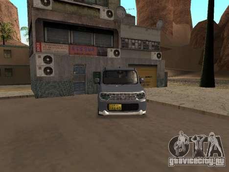 Suzuki Alto Lapin для GTA San Andreas вид сзади слева
