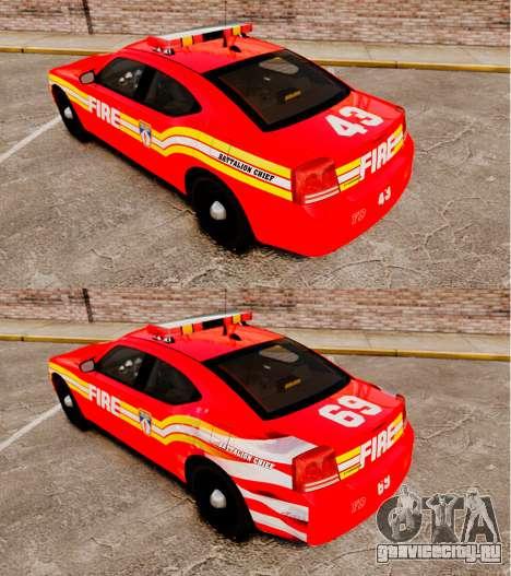 Dodge Charger LCFD Battalion Chief [ELS] для GTA 4 вид сзади