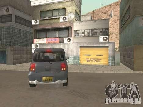 Suzuki Alto Lapin для GTA San Andreas вид сбоку