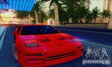 Acura NSX Drift для GTA San Andreas вид изнутри