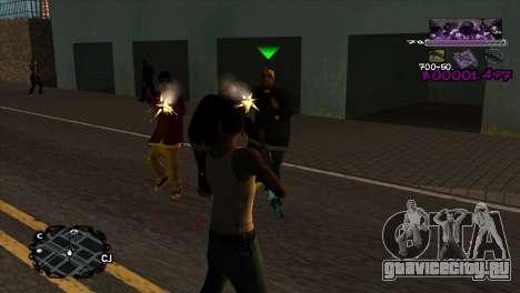 Ballas C-HUD для GTA San Andreas второй скриншот