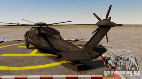 Sikorsky MH-X Silent Hawk [EPM] для GTA 4 вид сзади слева