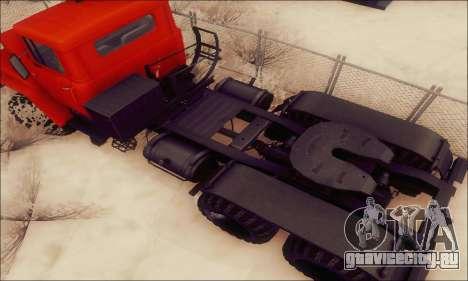 КрАЗ 260В для GTA San Andreas вид изнутри