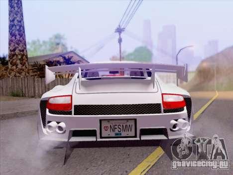 Porsche Carrera S для GTA San Andreas вид сверху