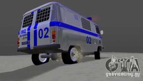 УАЗ 3741 ОМОН для GTA Vice City вид справа