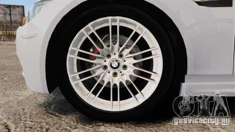 BMW M3 Unmarked Police [ELS] для GTA 4 вид сзади