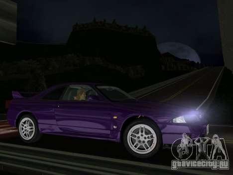 Nissan SKyline GT-R BNR33 для GTA Vice City вид слева