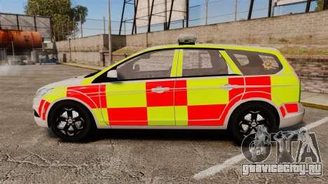 Ford Focus Estate 2009 Fire Car England [ELS] для GTA 4 вид слева