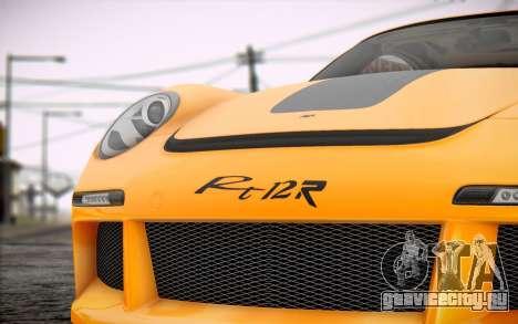 RUF RT12R для GTA San Andreas вид сзади