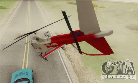 GTA V Ambulacia Maverick для GTA San Andreas вид справа