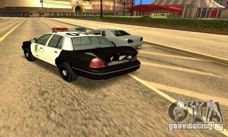 Ford Crown Victoria Police LV для GTA San Andreas вид сверху