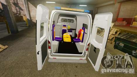Renault Master French Red Cross [ELS] для GTA 4 вид изнутри