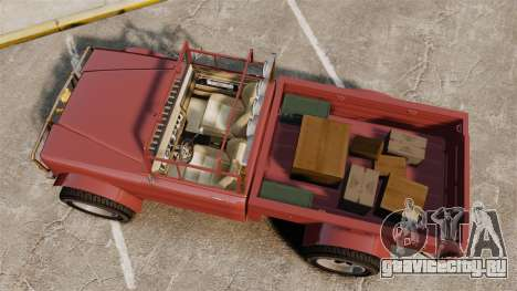 GTA V Canis Bodhi (Trevor Car) для GTA 4 вид справа