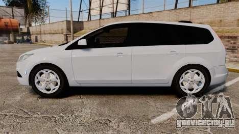 Ford Focus Estate 2009 Unmarked Police [ELS] для GTA 4 вид слева