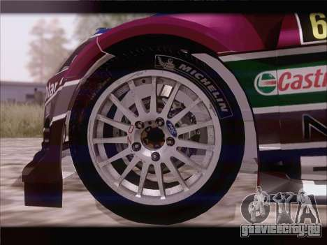 Ford Fiesta RS WRC 2013 для GTA San Andreas вид изнутри