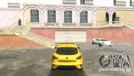 Seat Ibiza Cupra для GTA Vice City вид сзади слева