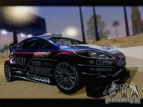 Ford Fiesta RS WRC 2013 для GTA San Andreas вид слева