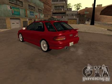 Subaru Impreza Wagon для GTA San Andreas вид сзади слева