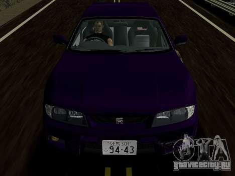 Nissan SKyline GT-R BNR33 для GTA Vice City вид сзади слева
