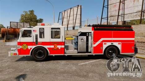 Firetruck Woonsocket [ELS] для GTA 4 вид слева
