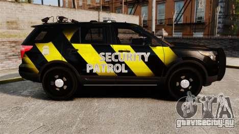 Ford Explorer 2013 Security Patrol [ELS] для GTA 4 вид слева