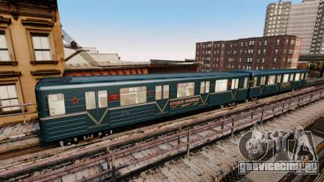 Головной вагон метрополитена модели 81-717 для GTA 4 четвёртый скриншот