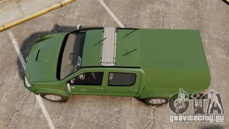 Toyota Hilux Finnish Military Police [ELS] для GTA 4 вид справа