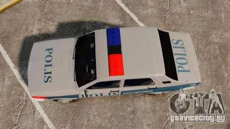 Renault 12 Turkish Police для GTA 4 вид справа