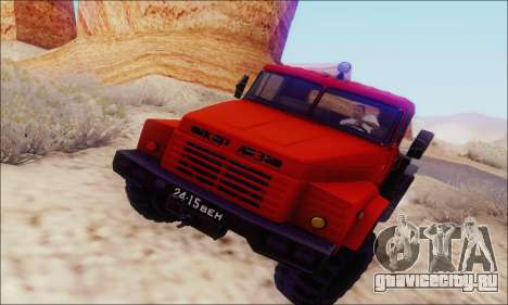 КрАЗ 260В для GTA San Andreas вид сзади слева