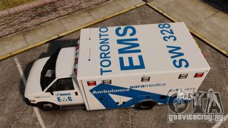 Brute Ambulance Toronto [ELS] для GTA 4 вид справа