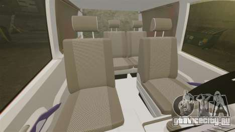 Mercedes-Benz Vito Metropolitan Police [ELS] для GTA 4 вид изнутри