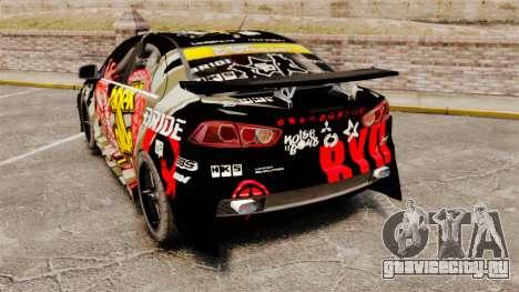 Mitsubishi Lancer Evolution X Ryo King для GTA 4 вид сзади слева