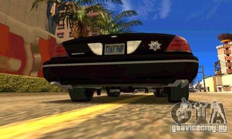 Ford Crown Victoria Police LV для GTA San Andreas вид сзади слева