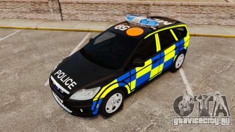 Ford Focus Estate 2009 Police England [ELS] для GTA 4 вид сзади