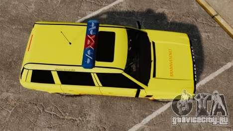 Range Rover Vogue Brannvesenet для GTA 4 вид справа