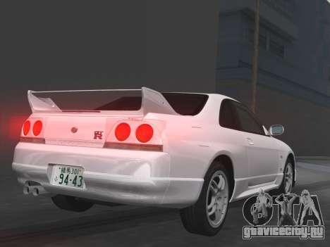 Nissan SKyline GT-R BNR33 для GTA Vice City салон