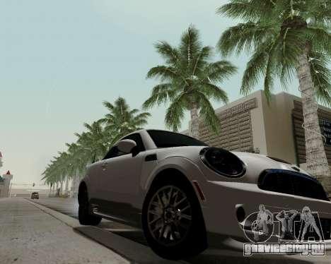 MINI Cooper S 2012 для GTA San Andreas вид сзади слева