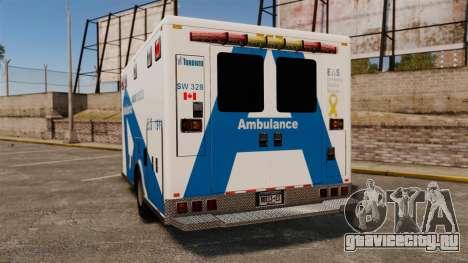 Brute Ambulance Toronto [ELS] для GTA 4 вид сзади слева