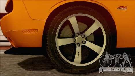 Dodge Challenger SRT8 2012 HEMI для GTA San Andreas вид сзади слева