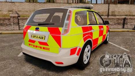 Ford Focus Estate 2009 Fire Car England [ELS] для GTA 4 вид сзади слева