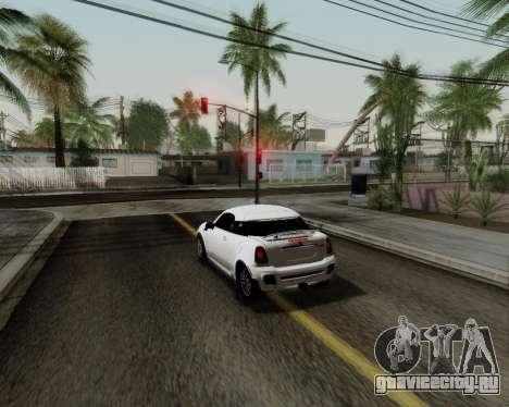 MINI Cooper S 2012 для GTA San Andreas вид изнутри