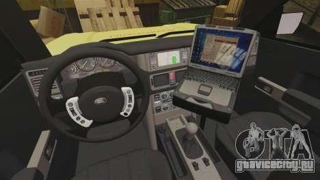 Range Rover Vogue Brannvesenet для GTA 4 вид сзади