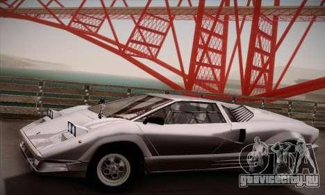 Lamborghini Countach 25th Anniversary для GTA San Andreas вид справа