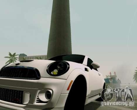 MINI Cooper S 2012 для GTA San Andreas вид справа